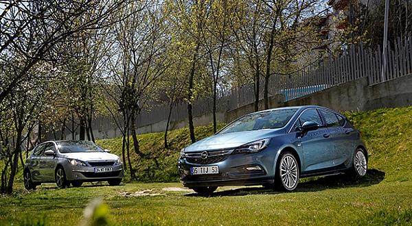 İnceleme - Opel Astra 1.6 CDTi Otm., Peugeot 308 1.6 BlueHDi EAT6