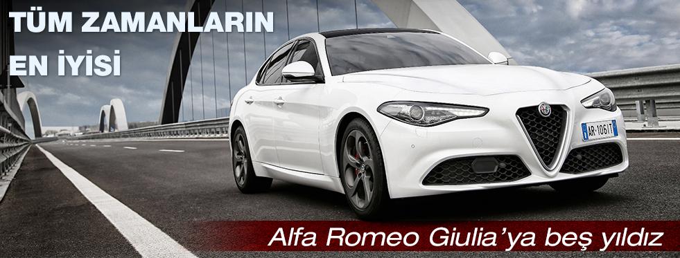 Alfa Romeo Giulia'ya Euro NCAP'ten 5 yıldız