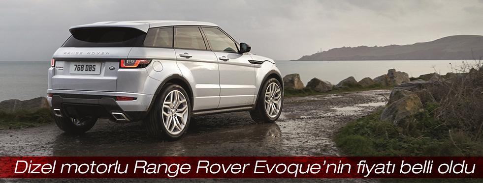 Dizel motorlu Range Rover Evoque Türkiye'de