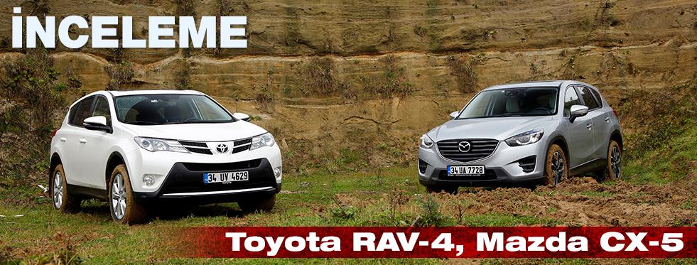 İnceleme- Mazda CX-5 2.0 AT 4X4, Toyota RAV-4 2.0 AT 4X4