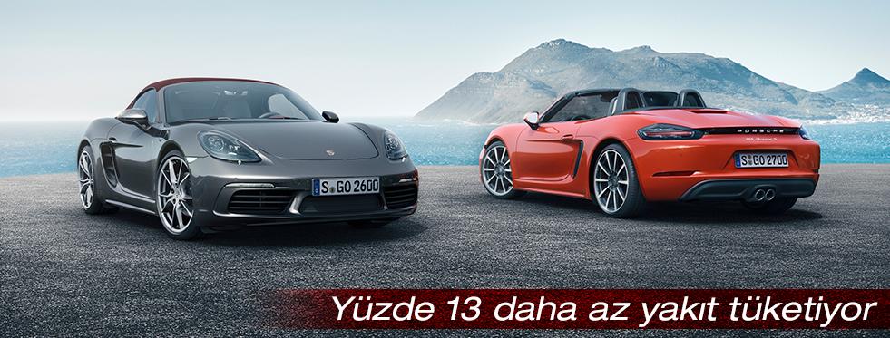 Yeni ortadan motorlu, dört silindirli roadster: Porsche 718 Boxster