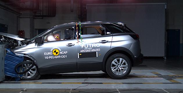 Euro NCAP'ten Peugeot 3008 SUV'a 5 yıldız