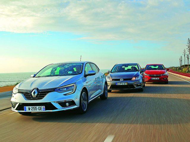 Karşılaştırma:  Renault Megane, VW Golf, Opel Astra