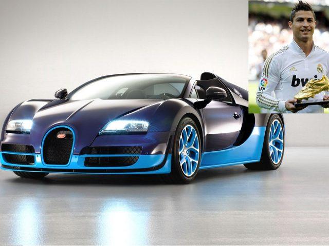 Ronaldo, 5 saat top koşturuyor, Bugatti Veyron alıyor
