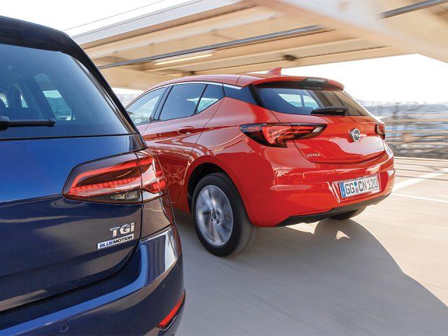 Karşılaştırma – Opel Astra 1.4 CNG, VW Golf 1.4 TGI