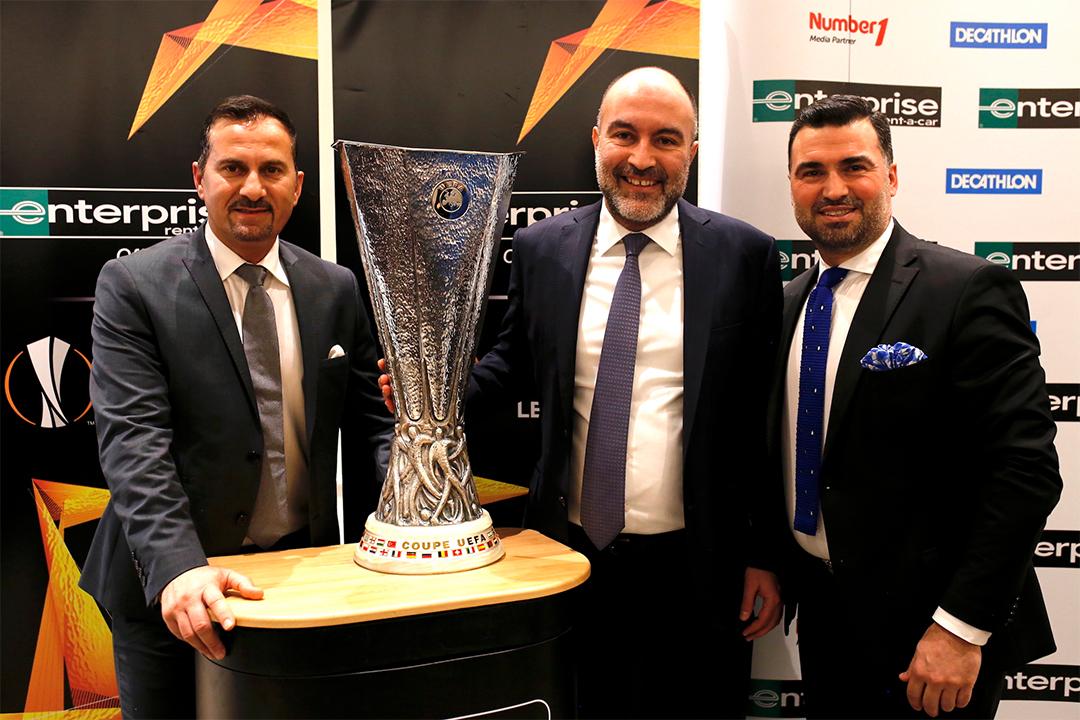 Enterprise, UEFA Kupası'nı Türkiye'ye taşıdı