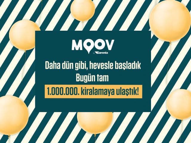 MOOV by Garenta'dan 1 milyonuncu kiralama