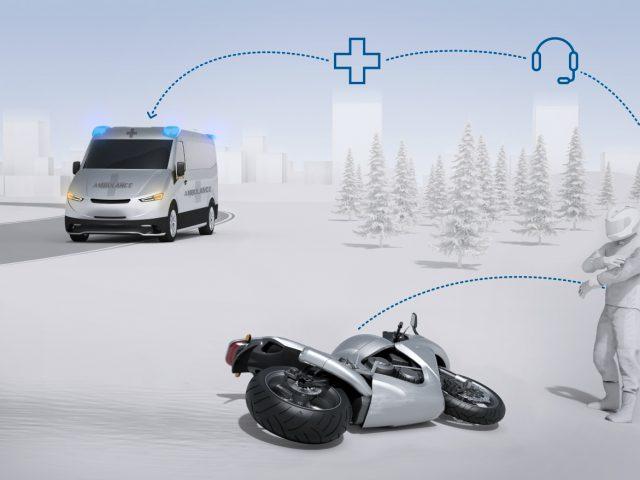 Bosch'tan motosikletler için otomatik acil çağrı sistemi